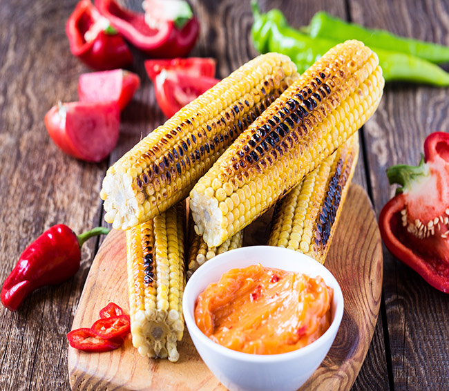 Grilled Corn With Chilli Butter